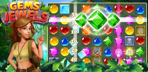 Gems & Jewels - Match 3 Jungle Puzzle Game pc screenshot