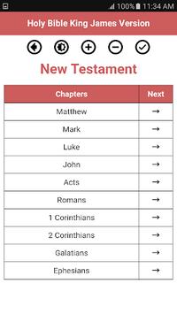 Holy Bible King James Version APK screenshot 1