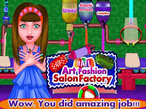 Nail Art Fashion Salon Factory APK screenshot 1