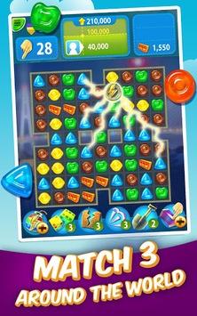 Gummy Drop! – Free Match 3 Puzzle Game APK screenshot 1