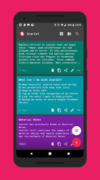 Scarlet Notes APK screenshot 1