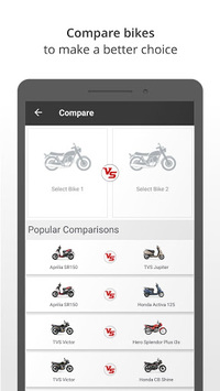 BikeWale -Search bike, scooter APK screenshot 1