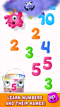 Learning numbers for kids! Writing Counting Games! APK screenshot 1