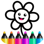 Toddler Drawing Academy! Coloring Games for Kids! icon
