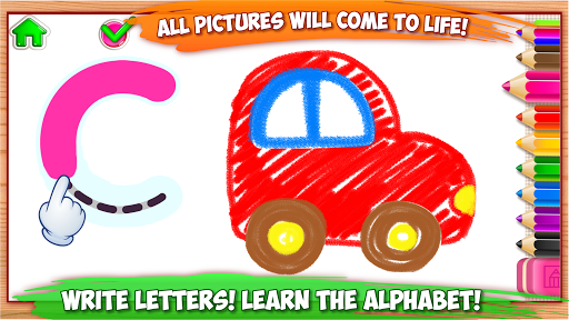 ABC DRAW! Alphabet games Preschool! Kids DRAWING 2 APK screenshot 1