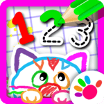Bini 123 Draw🎨 Toddler Counting Drawing for Kids for pc icon