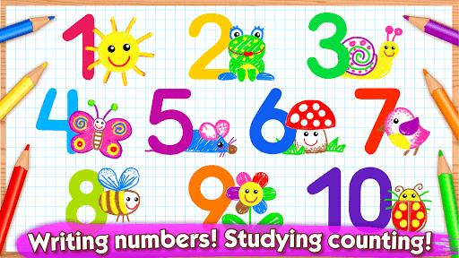 Bini 123 Draw🎨 Toddler Counting Drawing for Kids APK screenshot 1