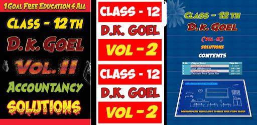 Account Class-12 Solutions (D K Goel) Vol-2 pc screenshot