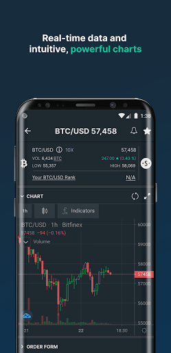 Bitfinex APK screenshot 1