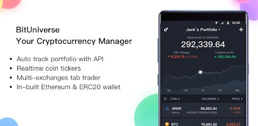 BitUniverse - Bitcoin Price, Crypto Portfolio pc screenshot