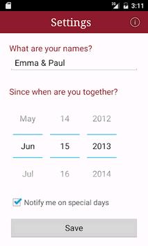 My Love - Relationship Counter APK screenshot 1