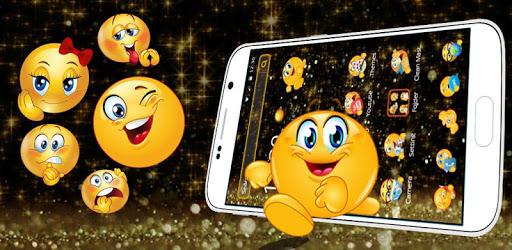 Black Glitter Emoji Theme pc screenshot
