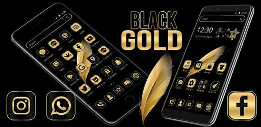 Black Gold Feather Theme pc screenshot