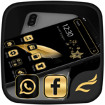 Black Gold Feather Theme icon
