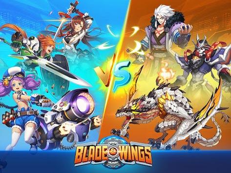 Blade & Wings: Future Fantasy 3D Anime MMORPG Game APK screenshot 1