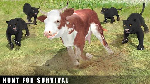 Ultimate Black Panther Animal Safari Survival Game APK screenshot 1