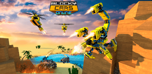 Blocky Cars - Online Shooting Game pc screenshot
