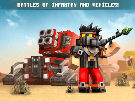 Blocky Cars - Online Shooting Game APK screenshot 1