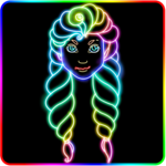 Glowii: Easy Neon Doodle Drawing icon
