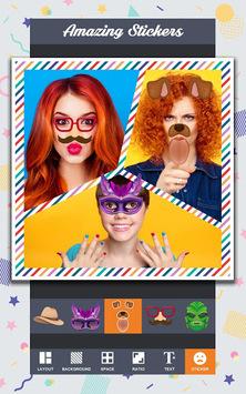 Auto Collage Photo Grid Maker , Pics Frame Editor APK screenshot 1