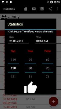 Blood pressure App APK screenshot 1