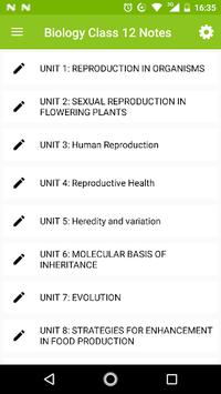 Class 12 Biology Notes APK screenshot 1