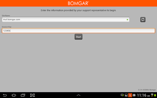 Bomgar for Samsung APK screenshot 1