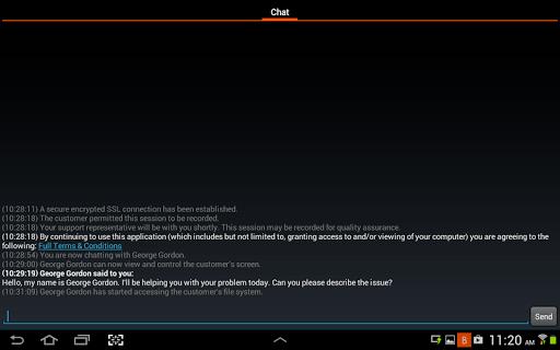 Bomgar for Samsung APK screenshot 1