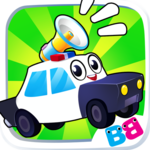 Toddler car games - car Sounds Puzzle and Coloring icon