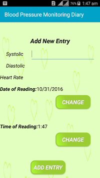 Blood Pressure Monitor Diary APK screenshot 1
