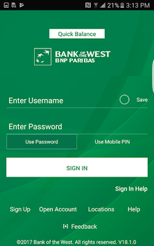 Bank of the West Mobile APK screenshot 1
