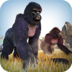 Wild Gorilla Monkey Run Game icon