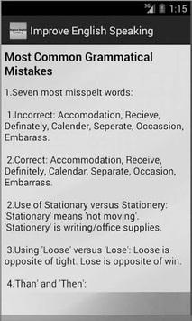 Improve English Speaking APK screenshot 1