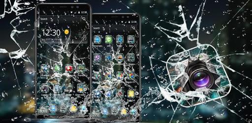 Rain Broken Glass Theme pc screenshot