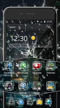 Rain Broken Glass Theme APK screenshot 1