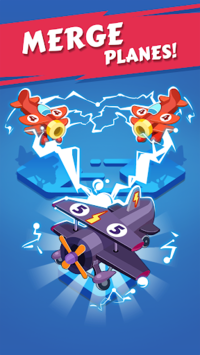 Merge Plane - Click & Idle Tycoon APK screenshot 1