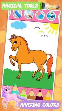 Unicorn coloring book for kids APK screenshot 1