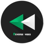 reverse video backwards icon