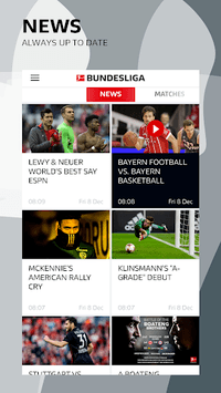 BUNDESLIGA - Official App APK screenshot 1