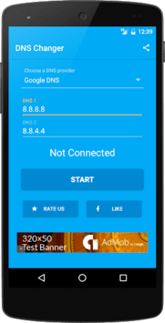 DNS Changer (no root 3G/WiFi) APK screenshot 1