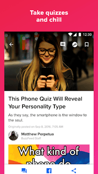 BuzzFeed: News, Tasty, Quizzes APK screenshot 1