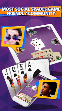 Spades - Free Spades online plus real multiplayer APK screenshot 1