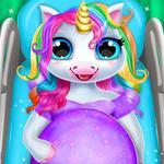 Pregnant Unicorn Mom And Baby Daycare-Unicorn Game icon