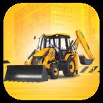Backhoe Loader Working Machine icon