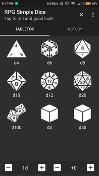 RPG Simple Dice APK screenshot 1