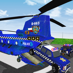 Police Airplane Cars Transporter: Haulers Driving icon