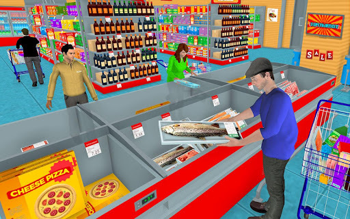 Supermarket Grocery Shopping Mall Family Game APK screenshot 1