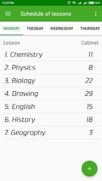 LightSchool – School schedule, homework, notes APK screenshot 1