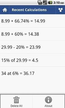 Percent Calculator APK screenshot 1