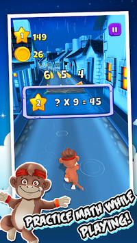 Toon Math: Endless Run and Math Games APK screenshot 1